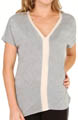 Bella Luxx Brushed Jersey Silk Banded V-Neck Top BL1104