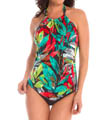 MagicSuit Nirvana Nicole Halter Tankini Swim Top 453269