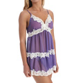 Mystique Intimates Sophie Chemise with Lace Trim & Thong 16804