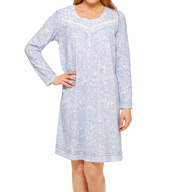 Aria Horizon Long Sleeve Short Nightgown 8014970