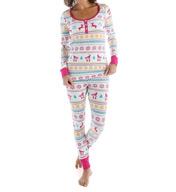 BedHead Pajamas Partridge Fair Isle Long Sleeve Henley PJ Set 2621