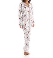 BedHead Pajamas Bow Eiffel Tower Long Sleeve Classic PJ Set 2622