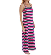 Tommy Bahama Nautical Stripe Scoop Neck Racerback Long Dress TSW53921C