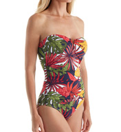 Tommy Bahama Remy V-Front Bandeau One Piece Swimsuit TSW72018P