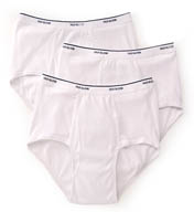 Fruit Of The Loom Extended Size 100% Cotton White Briefs - 3 Pack 7690